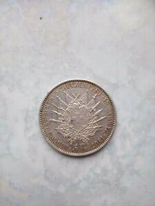 1867 Switzerland Katon Schwyz 5 Francs 25 Grams
