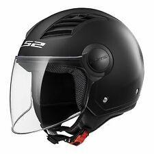 LS2 Open Face Helmet - Matt Black XL