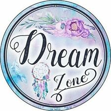 "Dream Zone 12"" Round Metal Sign Sleep Dreamcatcher Novelty Bedroom Home Decor"
