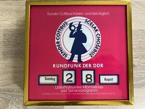 DDR Drehkalender, ewiger Kalender Rundfunk der DDR, Cottbus