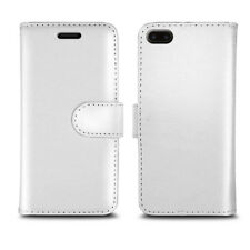 Magnetic Flip Wallet Leather Case Cover for Apple iPhone 5 5c 5s Screen Guard Plain White I Phone 6 Plus