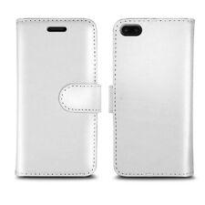 **FOR APPLE iPHONE X 10 PLAIN COLOUR LEATHER WALLET PREMIUM FLIP BOOK PHONE CASE