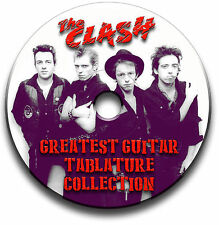 THE CLASH PUNK ROCK GUITAR TAB TABLATURE SONG BOOK SOFTWARE CD