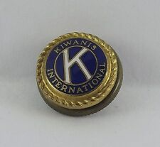 Vintage Gold Tone Kiwanis International Lapel Pin Button Enameled Pin