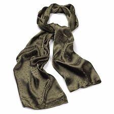 Ladies SCARF-GREEN KHAKI TONE ❤SILKY SATIN ❤elegant SPOT-50 x 170 cm £2.95 gift❤