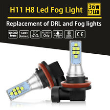 2x H8 H11 36W White LED Fog Light Daytime Running Bulbs 6000K 12-SMD FLS3535