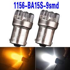 5pcs BA15S P21W 1156 9 LED Car Vehicle Auto Positive White Signal Lamp Bulbs
