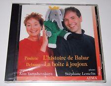 Poulenc: L'histoire de Babar; Debussy: La boîte à joujoux (CD, 1998, ATMA) new