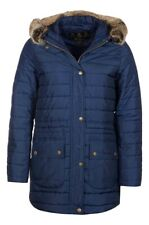 NEW Barbour Ladies Ascott Warm Insulated Quilted Jacket Navy Blue Size UK 18