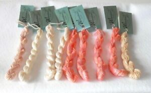 THREAD - WATERCOLOURS BY CARON - LOT OF 9 - VARIEGATED PINKS, ORANGES  - NEW!
