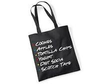 Friends Rachel Green's Shopping List - Scotch Tape - Novelty Gift Black Tote Bag