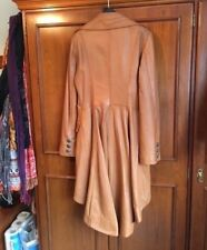 New Ladies Stylish Tan Knee Length Soft Leather Coat 'Fitted & Flared'