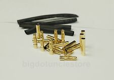 112: 10 pair 4.0mm Gold Plated Connectors/Plugs(Male/Female) for RC Model