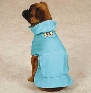 DOG RAIN COAT JACKET PET WATERPROOF RAINCOAT HOOT & HOWL OWL STOWAWAY