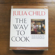 SIGNED - THE WAY TO COOK by Julia Child - HCDJ 1st 1989 cookbook cooking French