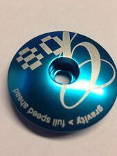 "1.5"" FSA BLUE HEADSET CAP Gravity Race MTB 1 1/2 inch Bike Mountain DH Bicycle"