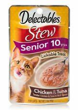 Hartz 3pk Delectables Stew Lickable Treat Tuna & Chicken Senior 10 Years