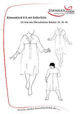 Kleiderschnittmuster  Kimonokleid mit Kellerfalte  Gr 36-46 Mehrgrößenschnitt