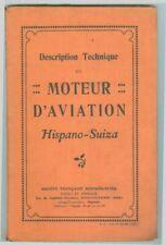 Description Technique du Moteur d'aviation Hispano-Suiza 1925