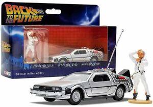 1:36 Back to the Future Time Machine w/Doc Brown Figure -- DeLorean -- Corgi
