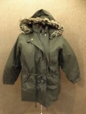 Woman Within NEW Dark Olive Green Anorak Parka Coat Removable Quilted Lining 1X
