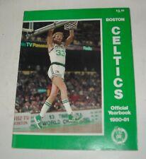 1980 - 1981 BOSTON CELTICS OFFICIAL YEARBOOK MAGAZINE LARRY BIRD ROBERT PARRISH