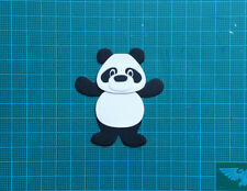 6 panda bear card topper Marianne Design paper die cuts kids animals