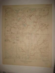 ANTIQUE 1945 BENNETT BAY WASHINGTON COUNTY FLORIDA TOPOGRAPHIC MAP TOPOGRAPHICAL