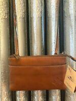 NWT Patricia Nash SORBOLA CROSSBODY BAG Italian Leather Tan P62501 MSRP $99