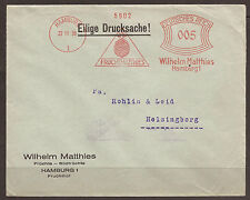 GERMANY / SWEDEN. 1930. COVER. RED MACHINE CANCEL. HAMBURG - WILHELM MATTHIES. F
