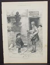 "Illustrated London News Single-Page A3#38 Feb. 1888 ""Please Give Me a Valentine"""