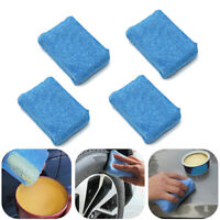 4x Blue Microfiber Applicator Sponge Pad Car Wash Wax Polish Detailing Clean
