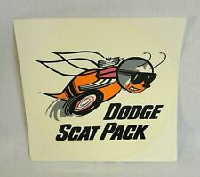 Rare! 1960`S Large Dodge Scat Pack Original Unused Prentice Water Decal!
