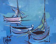 Jean LE GREC (1935-1990) HsT Années 70 Nouvelle Ecole de Paris Jeune Peinture