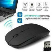 2.4GHz Ultra Slim Wireless Optical Mouse + USB Receiver for Laptop PC Computer
