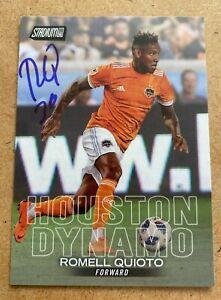 Romell Quioto Signed 2018 Topps Stadium Club Card Houston Dynamo Montreal Impact
