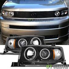 Black 2004 2005 2006 Scion Xb LED Halo Projector Headlights Headlamps Left+Right