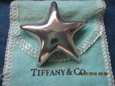 Auth Tiffany & Co. Very Rare Lrge Puffed Star Brooch/Pin Retired