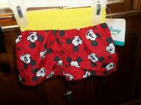 DISNEY MICKEY MOUSE INFANT SWIM TRUNK 0-3 MONTHS NEW WITH TAGS