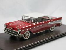 Brooklin Models BRK 221x 1957 Chevrolet Bel Air 4-Door Hardtop Ruby Red 1/43