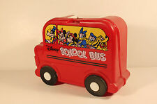Disney School Bus - Vintage plastic Lunchbox