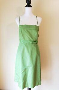 J Crew Womens Dress Silk Green Formal Strapless Size 8