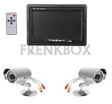 """Kit videosorveglianza con monitor LCD 7"""" + 2 telecamere 1200tvl + 2 cavi 20metri"""