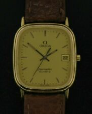 Mens Omega Seamaster Quartz Watch GF Case with Stainless Steel Back
