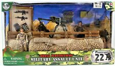 World Peacekeepers Military Assault Unit 1:18 Scale Poseable Action Figure Set