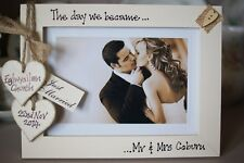Personalised Photo Frame by Filly Folly! Vintage Wedding Gift! 7x5''!