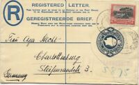 1930 South Africa 4d Registered Postal Stationery Envelope to CHARLOTTENBURG