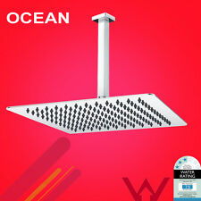 12'' 300mm Ultra Thin 304 SS Square Rainfall Overhead Shower Head & Ceiling Arm