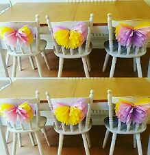 wedding party chair  butterflys birthday party table decorations
