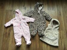 Baby Girls Winter Bundle Age 3-6 Months Next Snowsuit Snuggle Suit Fleece